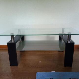 ガラス板 テーブル リビング 2段