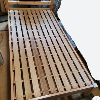 無印良品シングルベッド組立式工具不要