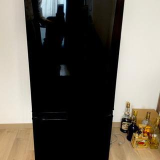 三菱 2ドア冷凍冷蔵庫 ブラック