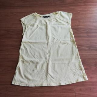 M黄色ノースリーブシャツ美品