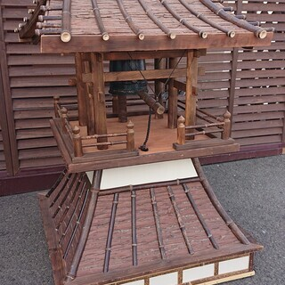 【飾り】 鐘つき堂(黒竹製)