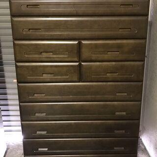 平田家具 木製 8段 洋タンス 整理タンス 箪笥 衣装収納 幅9...