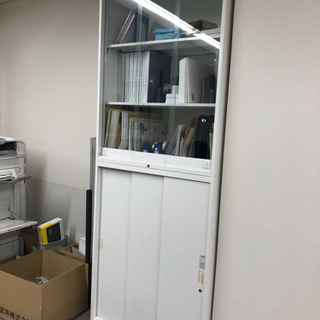書類棚(キャビネット) 白 オカムラ製 1台②