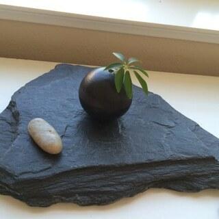 飾り台(石)プレート 花台 石盤 花置き 盆栽台 石板 台座