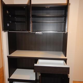 大川家具製食器棚「オスカ120オープンボード」幅1165mm 奥...