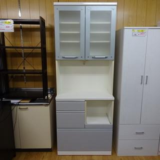 【リサイクルサービス八光 田上店 配達・設置OK】 ホワイト 食器棚