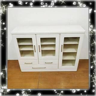 美品 マルミツ サイドボード 食器棚 鏡面仕上げ /SL1