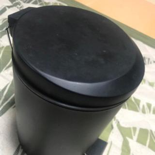 ゴミ箱 ふたつき ブラック