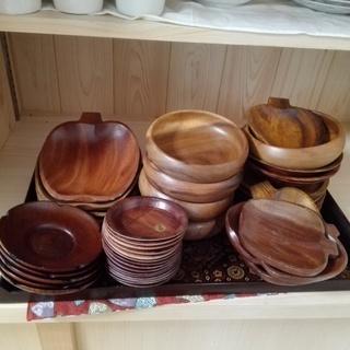 まとめて 食器 木製 大皿 子皿 コースター 茶托