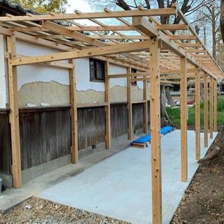 家の通路に屋根、洗濯部屋 作ります。