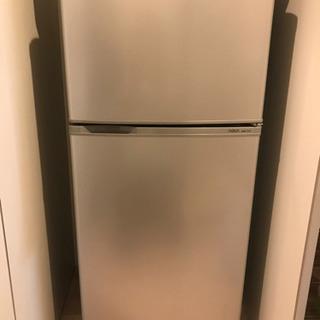AQUA ノンフロン直冷式冷凍冷蔵庫(シルバー)