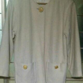 気品ある柔らかラムウール クリスチーヌ オフホワイトコート