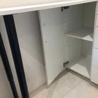 【引取限定】IKEA 立って作業するユニット机 METOD