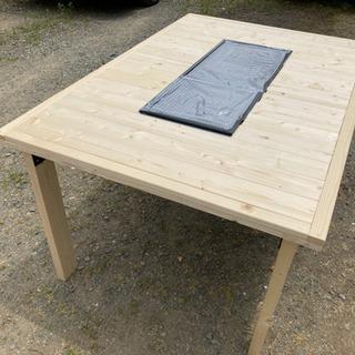 DIY家具 BBQコンロ埋込テーブル