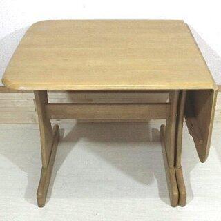 ダイニングテーブル☆折りたたみ机☆高さ69cm☆木製☆天板に傷み...