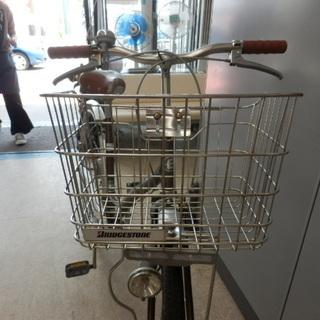 自転車 27インチ ブリヂストン EcoArch ベル カゴ ライト 鍵無し ブラウン×シルバー シティサイクル BRIDGESTONE ペイペイ対応 札幌市西区西野 - 札幌市