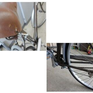 自転車 27インチ ブリヂストン EcoArch ベル カゴ ライト 鍵無し ブラウン×シルバー シティサイクル BRIDGESTONE ペイペイ対応 札幌市西区西野 - 売ります・あげます