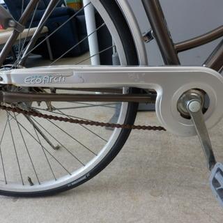自転車 27インチ ブリヂストン EcoArch ベル カゴ ライト 鍵無し ブラウン×シルバー シティサイクル BRIDGESTONE ペイペイ対応 札幌市西区西野 − 北海道