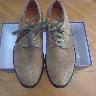 深みどり色の革靴(未使用品)