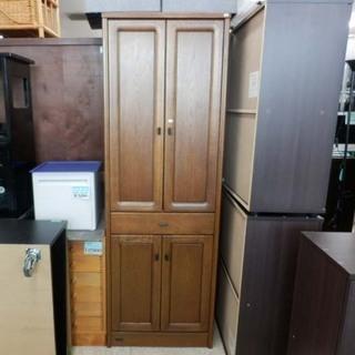 食器棚 木目 ブラウン 高さ178㎝ ペイペイ対応 札幌市西区西野