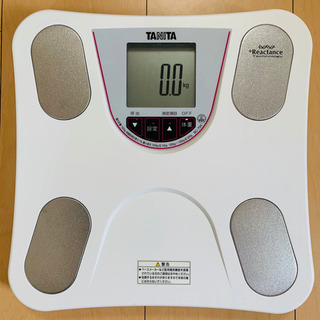 値下げ!タニタ 体重・体組成計 乗るピタ機能 ホワイトBC-75...