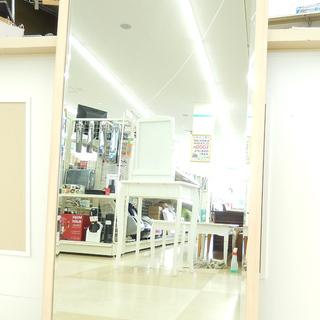 複数在庫有☆ミラー 鏡 姿見 木製 おしゃれ 美容室 セット面 ...