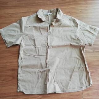 M~L半袖ベージュシャツ トップス