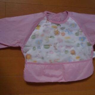乳幼児用 エプロン (ピンク)