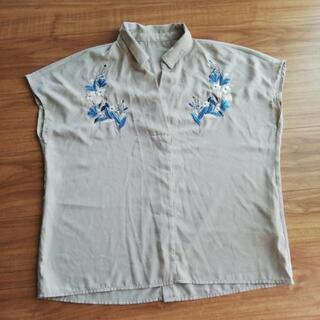 フリーサイズ ノースリーブトップスシャツ