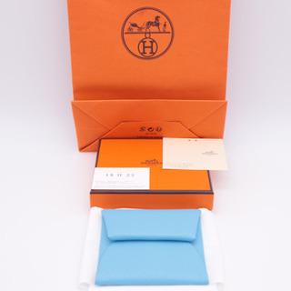 《HERMES/バスティア コインケース》ブルー Aランク 箱 ...