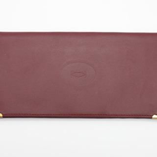 《Cartier/マストライン 二つ折り長財布》Bランク ボルド...