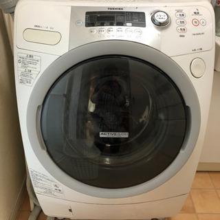 ジャンク 東芝 洗濯乾燥機 9kg   TW-G500L ホワイト