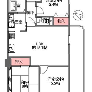 この広さでこの価格(^^)/ 南・東・西向き角部屋&浴室乾燥機付...