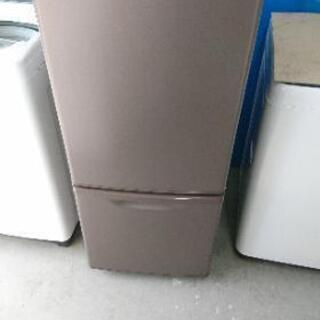 ブラウン 2ドア冷蔵庫 2017年製☺️