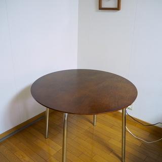 木製 ダイニングテーブル 直径90cm