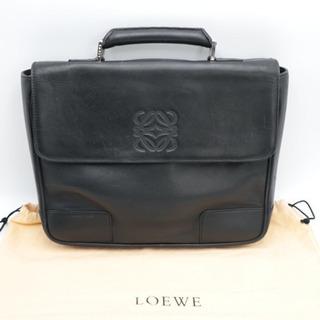 《LOEWE/レザー ロエベロゴ セカンドバッグ》ABランク 袋...