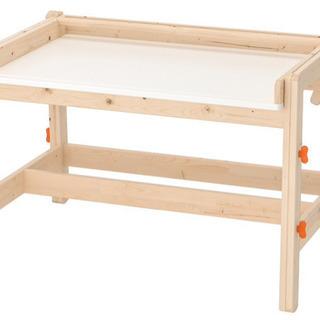 IKEA FLISAT フリサット 子ども用デスク, アジャスタ...