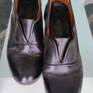 レザ、イタリア製の靴、サイズ37( 23,5-24)