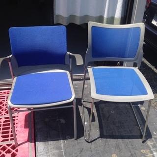 椅子 中古 水色 青