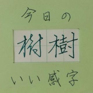 ガラスペンで「いい感字」 今日は「樹」 20200605 ペン字...