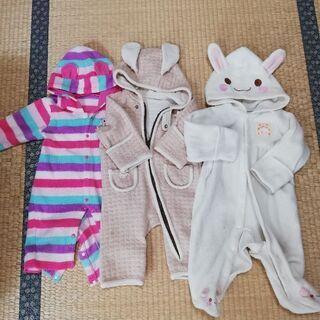 新生児ベビー服60〜80 肌着 カバーオール