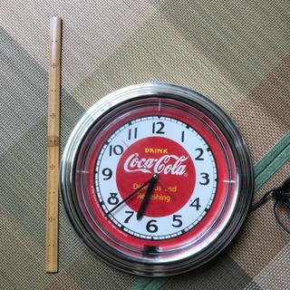 中古品 お洒落なコカコーラ・ネオン時計