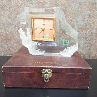 Rofty HOYA CRYSTAL ホヤ クリスタル 置時計