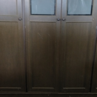 廃業格安家具 洋服ダンス・ワードロープ 4ドアー・中央内部引出し3段付 グレー 5分割可 w176h192d56cm - 揖斐郡