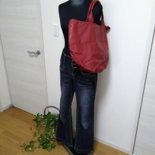 赤 リバーシブル バッグ