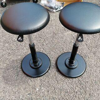 G-128 カウンターチェア★回転椅子★2脚セット【中古品】