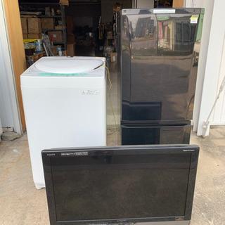 一人暮らし家電3点セット!32型液晶テレビ 4.2k洗濯機 2ド...