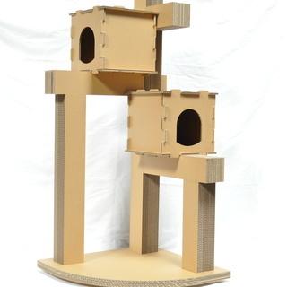猫タワー、爪トギ、つめと木君、段ボール製、自社オリジナル製品、新...