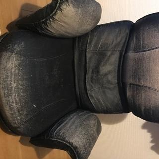 座椅子ブラック