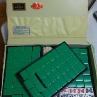 麻雀牌とマットのセット
